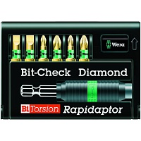 Набор бит 8700/6/BDC RAPIDAPTOR Bit-Check WERA WE-056370